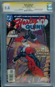 Harley Quinn #1 First Print (2000) CGC 9.4 Signature Series Signed Terry Dodson & Bruce Timm DC comic book